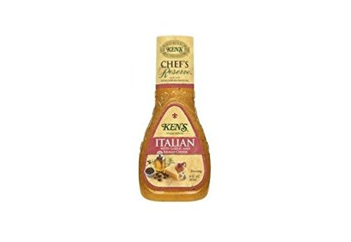 Ken's Steak House Chef's Reserve Italian Dressing with Garlic & Asiago Cheese (Pack of 3) 9 oz (Kens Italian Dressing)