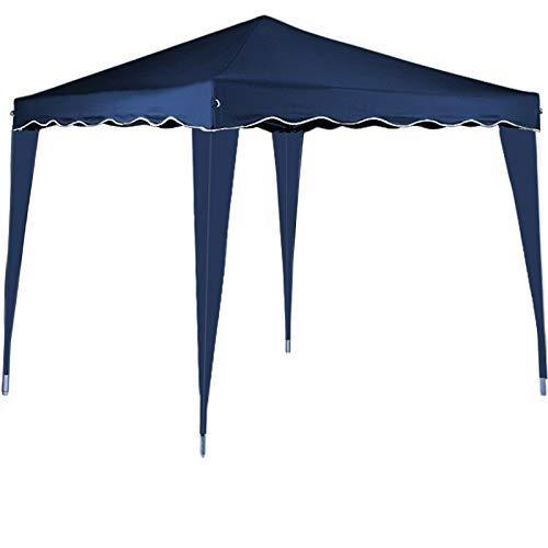 Blue Canopy Gazebo - cucunu Canopy Instant Gazebo Pop Up Tent 10 x 10 Shelter with Metal Frame for Outdoor Patio Garden Waterproof 10x10 Blue