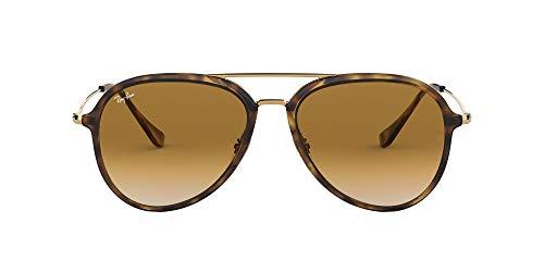 Ray-Ban RB4298 Aviator Sunglasses, Light Havana/Brown Gradient, 57 mm (Ray Ban Aviator Sonnenbrillen)