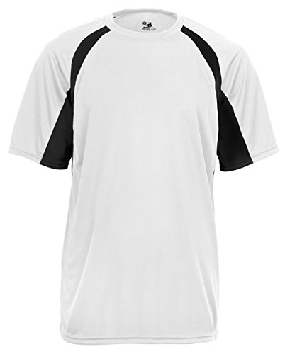 Men's two-tone moisture-wicking cool and dry sport hook tee.