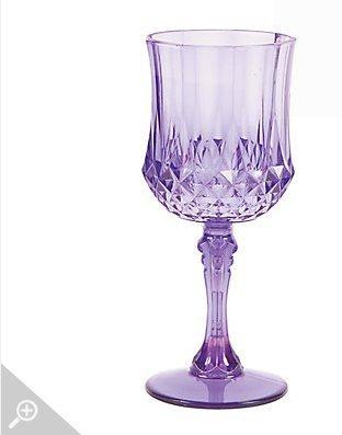 Purple Patterned Wine Glasses ()