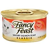 Fancy Feast Classic Savory Salmon Feast Canned Cat Food, My Pet Supplies