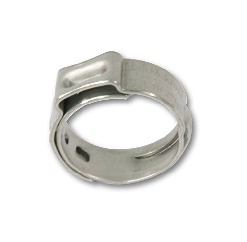 Pexflow PXKT-CR12-50 Oetiker Style Pinch Clamps Pex Cinch Rings, 1/2 INCH, Stainless Steel Pack of 50