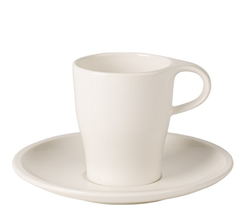 Premium Porcelain Dishwasher and Microwave Safe Made in Germany Coffee Passion Caf/é Au Lait Cup /& Saucer Set by Villeroy /& Boch 12.75 Ounce Capacity