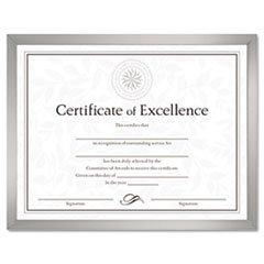 - (6 Pack Value Bundle) DAXN17002N Value U-Channel Document Frame w/Certificates, 8-1/2 x 11, Silver
