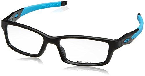 Oakley Crosslink Men's Active RX Prescription Frame - Satin Black/Sky Blue / Size - Oakley Rx Eyewear