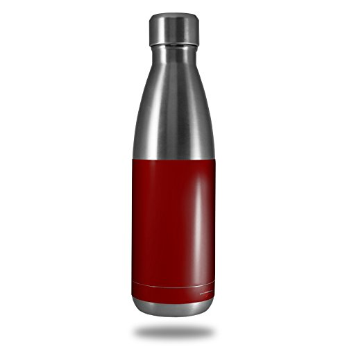 Skin Decal Wrap for RTIC Water Bottle 17oz Solids Collection Red Dark (BOTTLE NOT INCLUDED) by WraptorSkinz