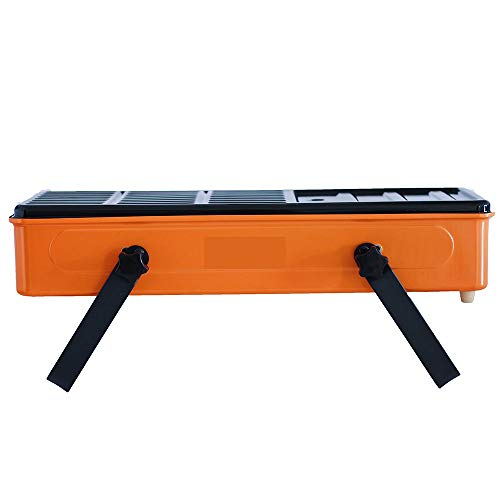 Barbecue Oven Outdoor Grill - Grill Outdoor Small Mini Smokeless Carbon Stove Household Charcoal Grilled Skewers Field Portable Charcoal Grill (Color : Orange)