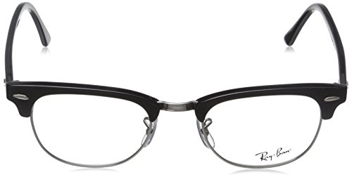 Negro Black 49mm Ray Silver Shiny Optical RX5154 de Montures Ban Noir lunettes 0PwpBfq