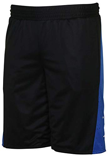 Nike Jordan Men's AJ V 5 Reversible Basketball Shorts-Black/Game Royal-Medium