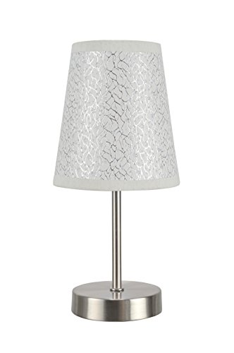 Aspen Study Desk (Aspen Creative 40085-8 1-Pack Set-1 Light Candlestick Table Lamp, Contemporary Design in Satin Nickel, 10