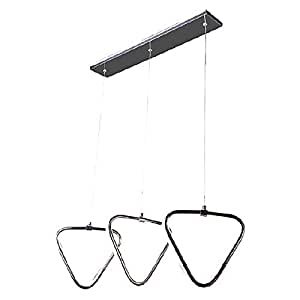 Luci Del Sole 3 Triangle Design Light with Double Illumination Chrome Frame