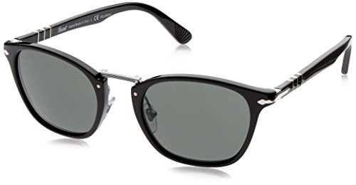 Persol Mens Sunglasses (PO3110S 51) Black/Green Acetate - Polarized - - Lenses Polarized Persol