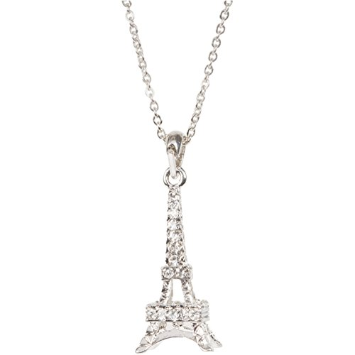 Heirloom Finds Eiffel Tower Necklace in Crystal and Silver Tone