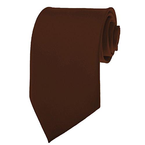 Solid Color Mens Tie - Cocoa - Tie Brown Solid