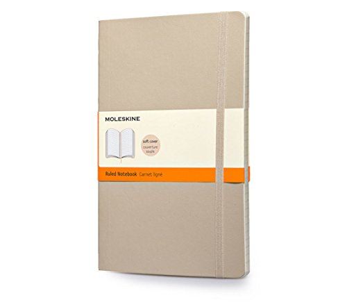 Moleskine Classic Colored Notebook, Large, Ruled, Khaki Beige, Soft Cover (5 X 8.25)