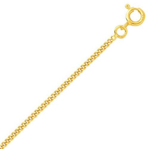 So Chic Bijoux © Chaîne Collier Longueur 50 cm Maille Gourmette Diamantée 1,7 mm Or Jaune 750/000 (18 carats)