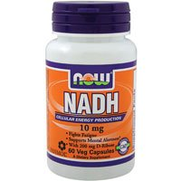NADH with Ribose, 10 mg, 60 Vcaps by Now Foods (Pack of 2)