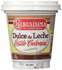''4'' La Serenisima ''Dulce De Leche ,'' Milk Caramel'', 400 G-14.10 Oz From Argentima