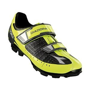 Diadora Men's X-Phantom Mountain Biking Shoe - 159093-C3444 (Black/Yellow Fluo/White - (Diadora Cycling Shoes)