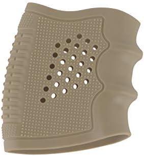 FOCUHUNTER Tactical Grip Glove Holster Funda de Goma para Pistolas Antideslizantes Airsoft Holster para Glock 17/19/20/21/22/23/25/31/32/34/35/37/38, M92 (Khaki)