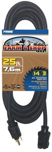 - Prime Wire & Cable EC532725 25-Foot 14/3 SJTOW Farm and Shop Extension Cord, Black