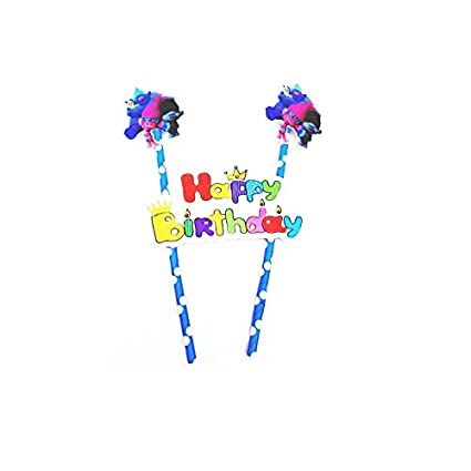 1*Fashion Happy Birthday Party Cake Toppers Decoration for Kids Birthday Party
