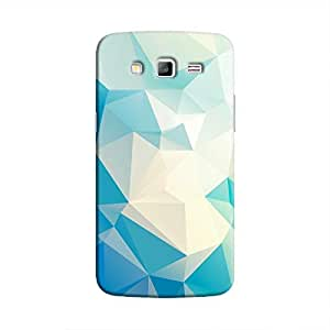 Cover It Up - Light Blue Pixel White Triangles Samsung Galaxy J5 Hard Case