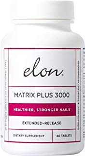 ELON Matrix Plus 3000 for Stronger and Healthier Nails - 60 Tablets | Professionally Formulated to Nourish, Enhance & Strengthen Nails | Designed with Biotin, L-Cysteine & Silicon Dioxide