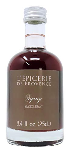 LEpicerie De Provence - Imported French Blackcurrant Syrup for Cocktails Smoothies,Fruit Salads and Ice Cream 8.45 Ounce Bottle