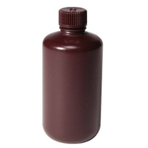 Nalgene 312085-0001 HDPE Narrow-Mouth Opaque Amber Packaging Bottle with Closure, 30 ml Capacity, 20 mm Closure Size (Pack of 1000)