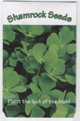 Set of 7 Mini Shamrock Field Seed Packet (Holder Packet Seed)