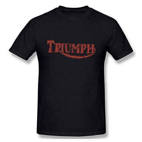 Triumph TRUIMPH Motorcycles Logo Men's Basic Short Sleeve T-Shirt Black