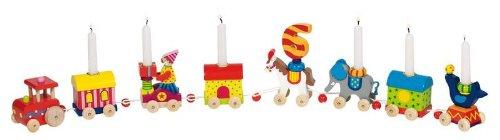 Madera Enanos Cumpleaños Tren Circo con 10 velas: Amazon.es ...