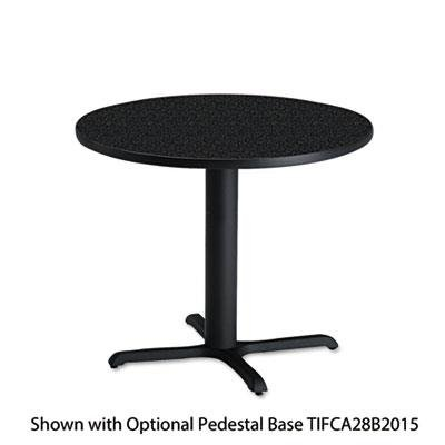 Mayline CA30RTANT Bistro Series 30-Inch Round Laminate Table Top, Charcoal - Board Diameter Round Core Particle
