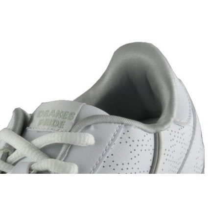 Drakes Pride Ladies White Silver Trim Cosmic Bowling Shoes