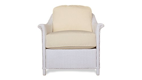 Lloyd Flanders 46302-001-105 Crofton Collection Lounge Chair in White Loom Finish, Fuse Oasis (Lloyd Patio Furniture)
