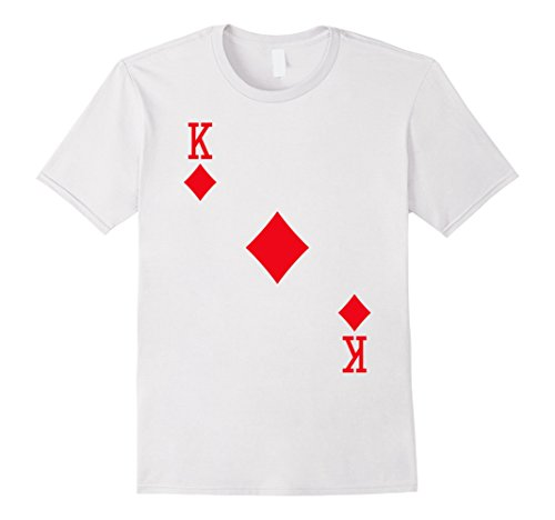 Halloween Diamond Costume (Mens King of Diamonds Costume T-Shirt Halloween Deck of Cards Large)