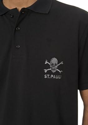 Upsolut St. Pauli Polo Calavera Negro Negro Talla:M: Amazon.es ...