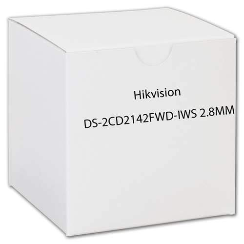 HIKVISION DS-2CD2142FWD-IWS 4MP WDR Fixed Dome IP Camera (IP67 Waterproof IK10 Motion Detection DC12V & PoE Built-in Wi-Fi Audio/Alarm IO 30m IR)-2.8mm