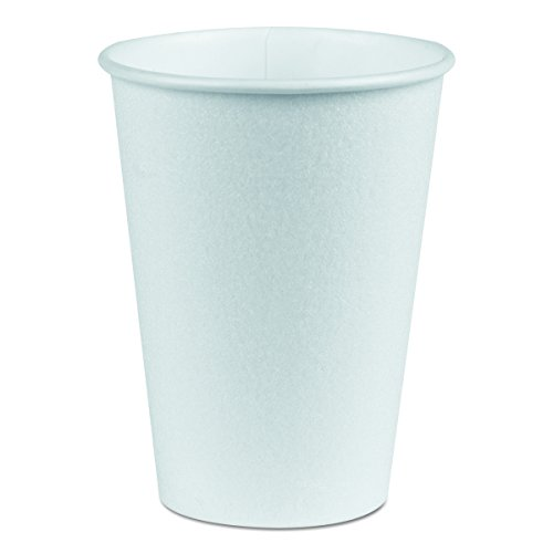 Dixie PerfecTouch 5342W Insulated Paper Hot or Cold Cup, 12 oz, White (Case of 20 packs, 50 cups per pack) by Georgia-Pacific