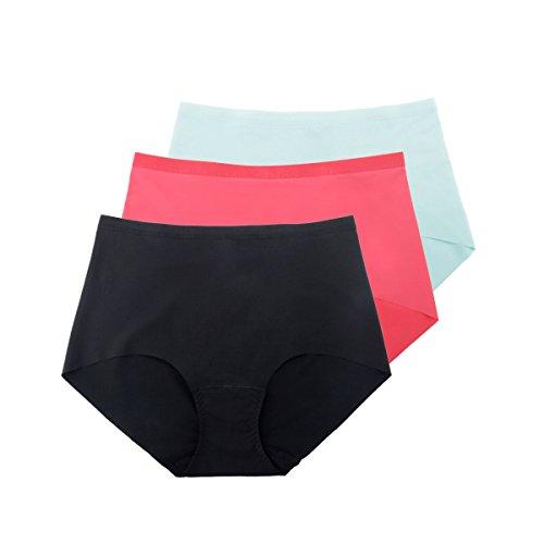[3] Paquete De La Cintura De La Ropa Interior De Las Mujeres No Pants Traza ángulo Libre Ultra-cómoda Estiramiento Casual A5
