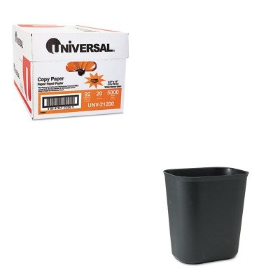 KITRCP254100BKUNV21200 - Value Kit - Rubbermaid Fire-Resistant Wastebasket (RCP254100BK) and Universal Copy Paper (UNV21200)
