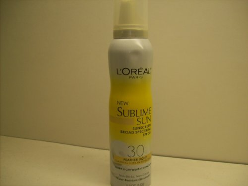 Loreal Paris New Sublime Sun SPF 30 Feather Light Foaming Lotion Sunscreen 5.0 Oz.