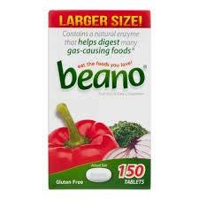 Beano - 150 comprimidos para eliminar gases y facilitar la digestión