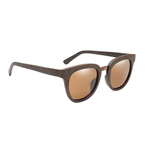 Conducir se Duradero Madera como Pesca Describe Hombres 1x Gafas 400 Cómodo de Lectura Amarillo de Sol Marron Senderismo Homyl UV oscuro Viaje AfUx7Fwq