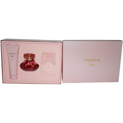Perry Ellis Perry Ellis Love Women Gift Set (Eau De Parfum, Body Lotion, Freshwater Cultured Pearl Bracelet, Organza Bag) (Perry Ellis Love)