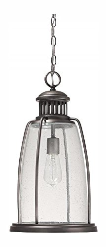 Graphite Harbour 1 Light Outdoor Full Sized Pendant by Capital
