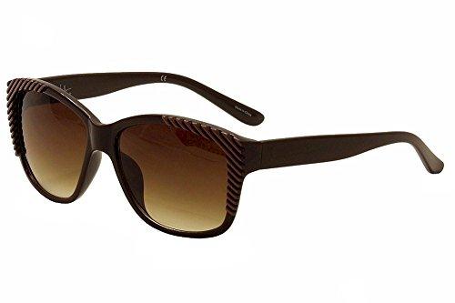 Nicole Miller Women's Haverstraw C02 Brown Fashion Sunglasses 57mm