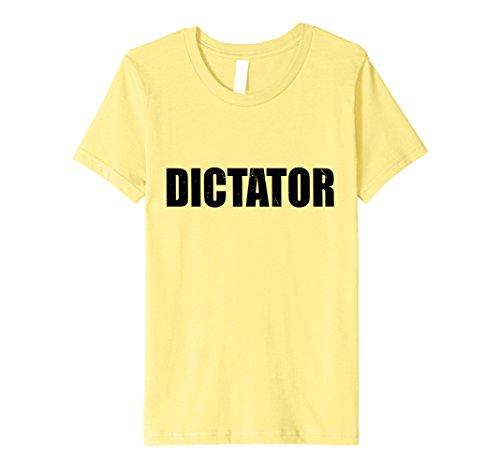 Dictator Costume Girl (Kids Dictator T Shirt Halloween Costume Funny Cute Distressed 6 Lemon)